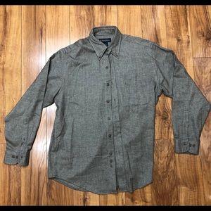 Brooks Brothers 100% cotton shirt herringbone
